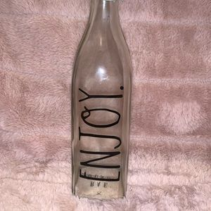 RAE DUNN Glass Bottle